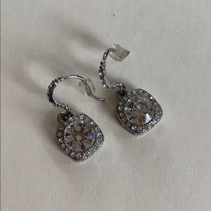 Jewelry - Silver Diamond Dangle Earrings